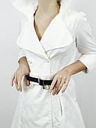 Плащ коттоновый женский белый (34,36)р Nysense Франция 9052, фото 3