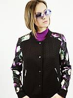 Куртка пиджак женская неопрен Пионы(38)р Vilen Китай 65412