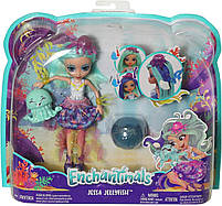 Набор Друзья из подводного мира Enchantimals кукла Медуза Джесса - Меняет цвет волос FKV57, фото 10