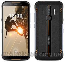 Смартфон оранжевый с большим дисплеем и мощной батареей на 2 сим карты Homtom HT80 orange 2/16 гб