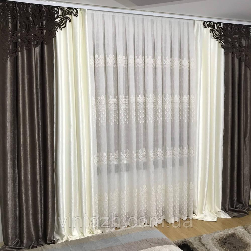 Комплект модный плотных штор  от производителя недорого