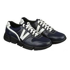 VM-Villomi Мужские кожаные кроссовки синего цвета