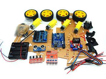 Навчальний набір Arduino конструктор робот для початківців Car Kit 4 WD - Arduino UNO R3 🚗