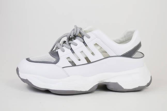 Кроссовки с открытой пяткой V.I.konty 9382 Бело-серые, фото 2