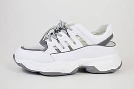 Кроссовки с открытой пяткой V.I.konty 9382 Бело-серые 37,38 размеры