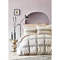 Комплект постельного белья Karaca Home ранфорс евро размер Desi bej