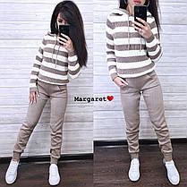 Костюм двойка штаны и кофта со вставками шерсть, фото 2
