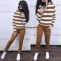 Костюм двойка штаны и кофта со вставками шерсть, фото 3