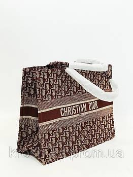 Женская сумка шопер коричневая  Cristia Dior Турция 5599