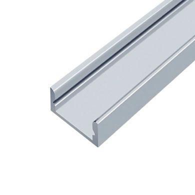 Комплект. Профиль алюминиевый LED BIOM ЛП7 7х16, неанодированный (палка 2м) + рассеиватель