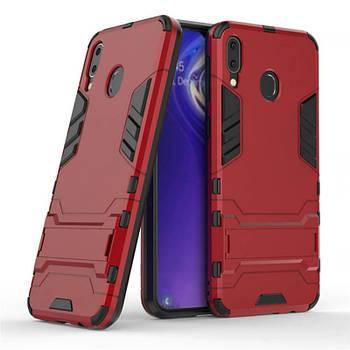 Ударопрочный чехол-подставка Transformer для Samsung Galaxy M20 с мощной защитой корпуса