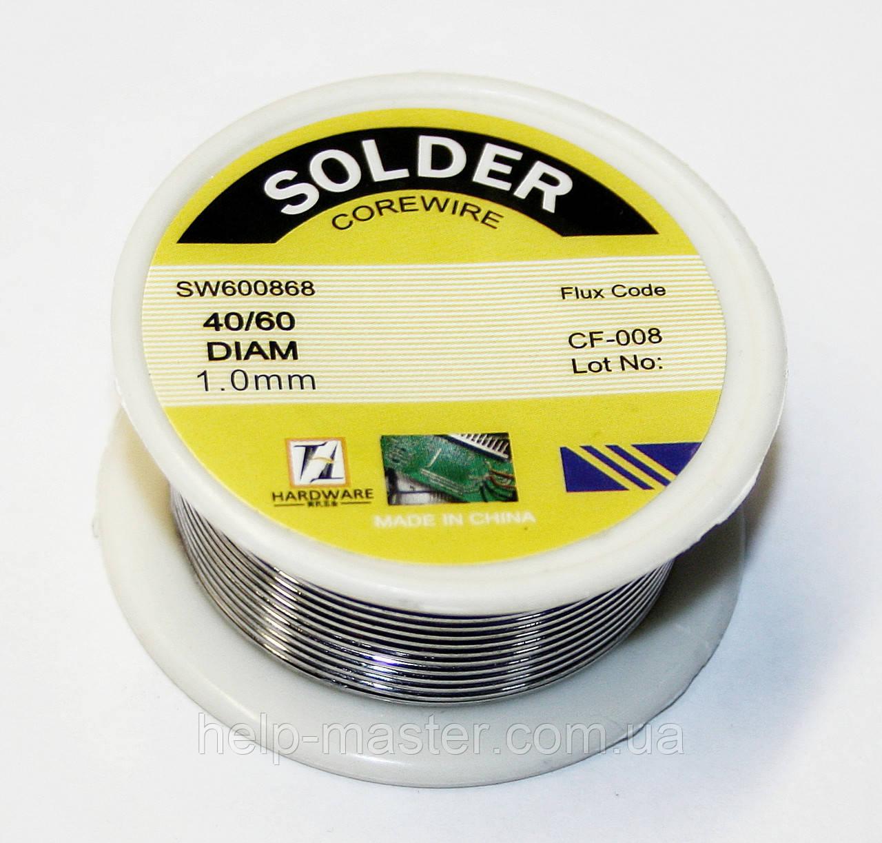 Припой для пайки 40/60 Олово/свинец 1 мм (50 гр.)