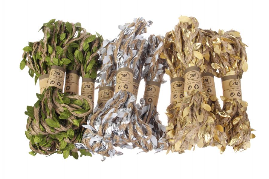 Бечевка с листочками (10х3м)