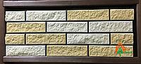 Кирпич облицовочный с фаской (желтый, белый)