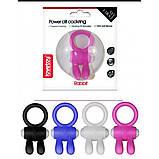Розовое эрекционное кольцо с вибрацией Power Clit Cockring Rabbit, фото 3