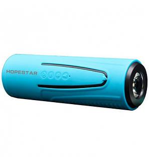 Портативная беспроводная водонепроницаемая блютуз колонка Bluetooth Speaker Hopestar P3 Blue с фонариком, фото 2