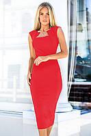 S, M, L, XL / Класичне червоне жіноче плаття-футляр