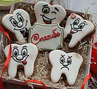Набор имбирных пряников но дня стоматолога , отличный подарок стоматологу