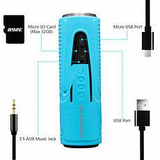 Портативная беспроводная водонепроницаемая блютуз колонка Bluetooth Speaker Hopestar P3 Blue с фонариком, фото 3