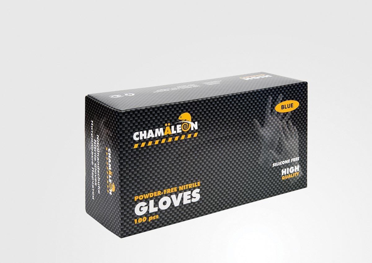 Перчатки нитриловые  Сhamäleon, 100 шт, L