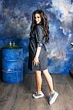 Черное джинсовое платье для беременных, фото 2