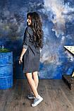 Черное джинсовое платье для беременных, фото 4