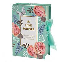 "Подарочная коробка в форме книжки ""Love forever"" 18х12х5 см"