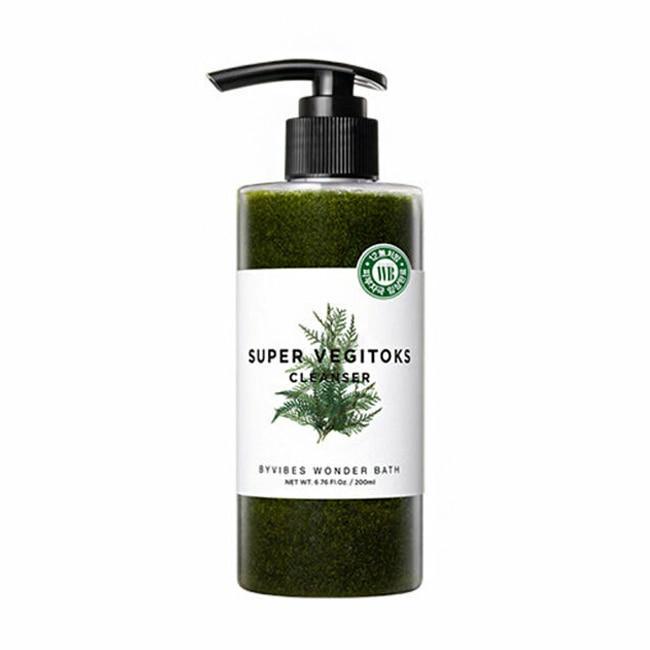 Увлажняющий детокс-гель Wonder Bath  Super Vegitoks Cleanser-Green