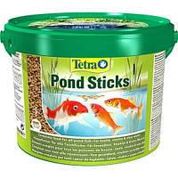 Корм для прудовых рыб TetraPond Sticks - 10л/1200 гр (основное питание для комет, золотых рыб, карпов кои)