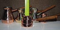 Джезга турка чиста мідь, радянська якість (переполіровано, нова ручка дуб)