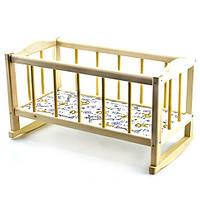 Кроватка для кукол Большая деревянная 50см