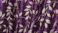 """Двусторонняя ткань блэкаут """"Листочки"""". Высота 2,8м. Цвет фиолетовый с бежевым. 446ш, фото 1"""