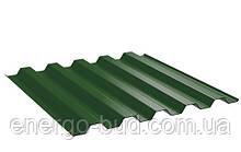 Профнастил кровельный НС 44 с полимерным покрытием 0,45мм 6002 зеленый светлый