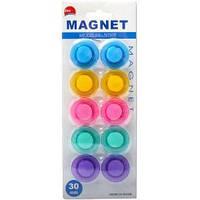 """Магнит """"Цветной"""" пластиковый, 10 цветов."""