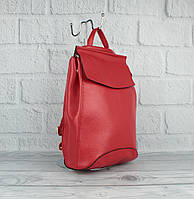 Кожаный городской рюкзак-сумка Valensiy 83003 красный, трансформер, фото 1