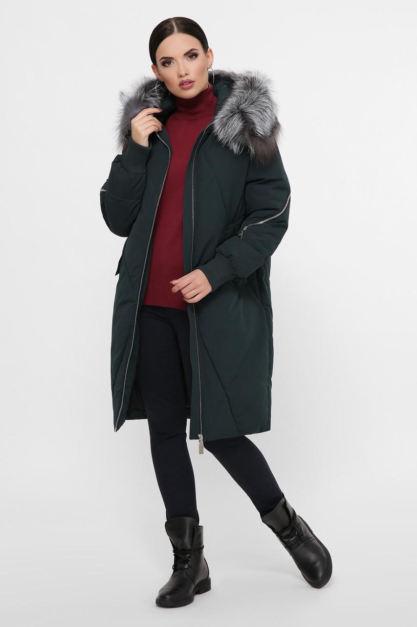 Куртка женская изумруд М-70