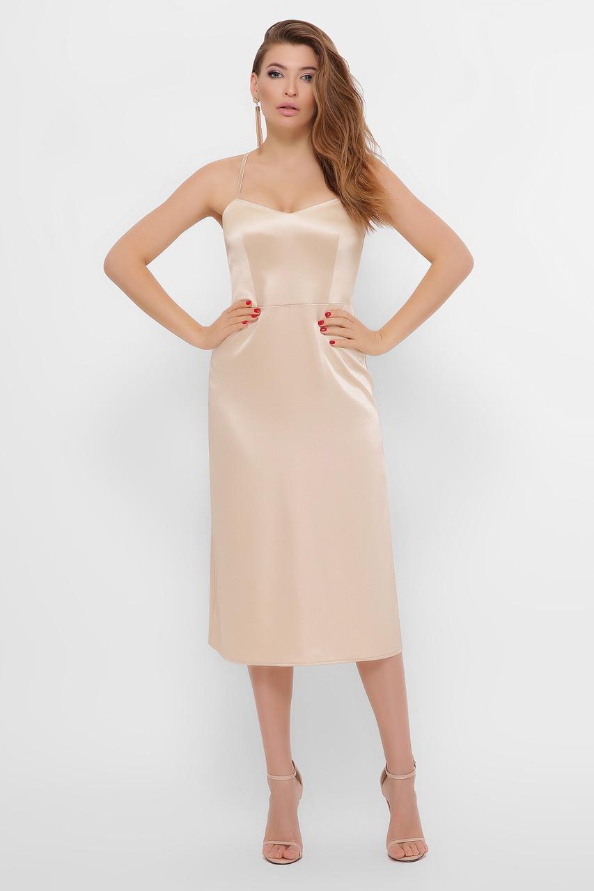 Женское платье бежевое Фрея б/р