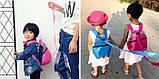 Рюкзак детский маленький, мишка. Синий с поводком., фото 2