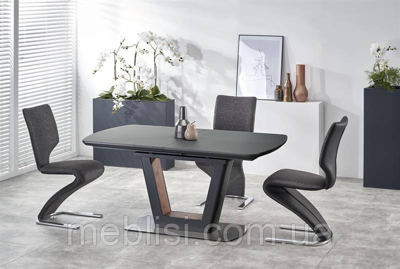 Стол раскладной BILOTTI антрацид 160(200)x90 (Halmar)