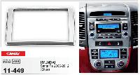 Рамка под магнитолу Hyundai Santa Fe (2006-2012 года) /для ХЮНДАЙ санта фе /2 ДИН/ переходная рамка/