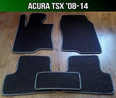 ЕВА коврики на Acura TSX '08-14. Ковры EVA Акура ТСХ