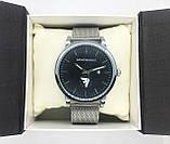 Мужские наручные часы Emporio Armani (Эмпорио Армани), серебро с черным циферблатом, фото 5