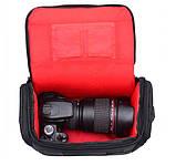 Фото сумка универсальная противоударная, цвет черный с красным, фото 7