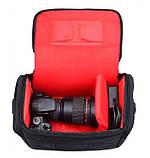 Фото сумка универсальная противоударная, цвет черный с красным, фото 8