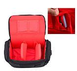 Фото сумка универсальная противоударная, цвет черный с красным, фото 10