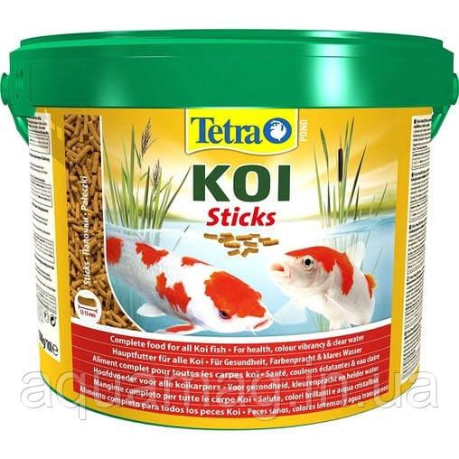 Корм для карпов кои TetraPond KoiSticks - 10л/1500гр (основное питание для кои)