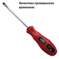 Отвертка шлицевая SL3x75 мм INTERTOOL. Плоская отвертка. Слесарский инструмент.
