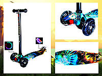 +Подарок Детский самокат MAXI. Парк Юрского периода. Светящиеся колеса!