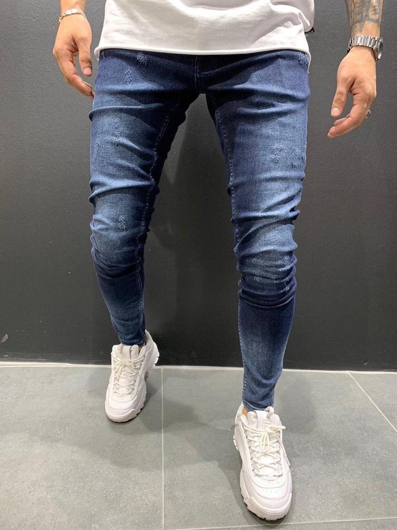 Мужские джинсы синие узкие А -DF1033