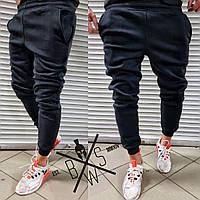 Спортивные штаны мужские утепленные на флисе Basic X black